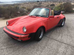 1985 Porsche 911 Factory Wide Body Turbo Look Cabriolet $67. For Sale