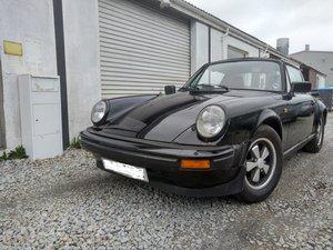 Black 1982 Porsche 911SC Targa Sport RHD PROJECT Restoration
