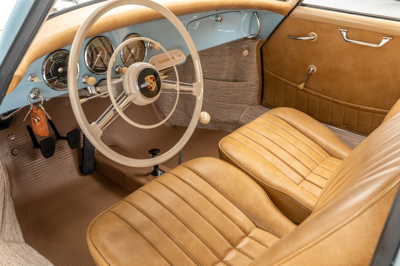 1959 Porsche 356A Coupe Correct 2 owners Blue(~)Tan $obo For Sale (picture 5 of 6)