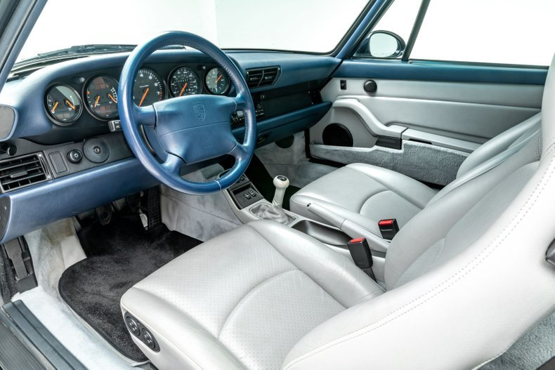 1995 Porsche 911 Carrera Coupe 6 Spd Manual Blue(~)Grey $69. For Sale (picture 3 of 6)