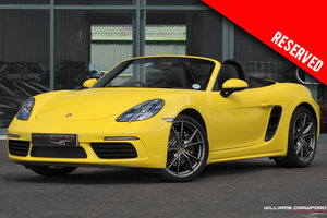 2017 RESERVED - Porsche 718 Boxster manual SOLD