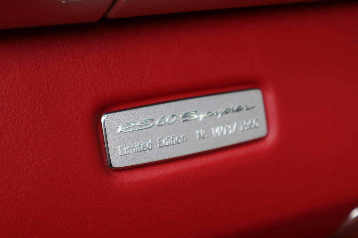 2008 Porsche RS60 Boxster Manual GT Silver 1403 of 1960 made SOLD (picture 4 of 6)