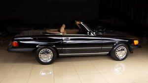 1989 Mercedes 560SL Roadster Black(~)Tan 47k miles $31.9k For Sale