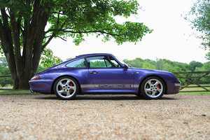 1998 RARE LOW MILEAGE MANUAL 993 C4S - SPECTACULAR VIOLET BLUE For Sale