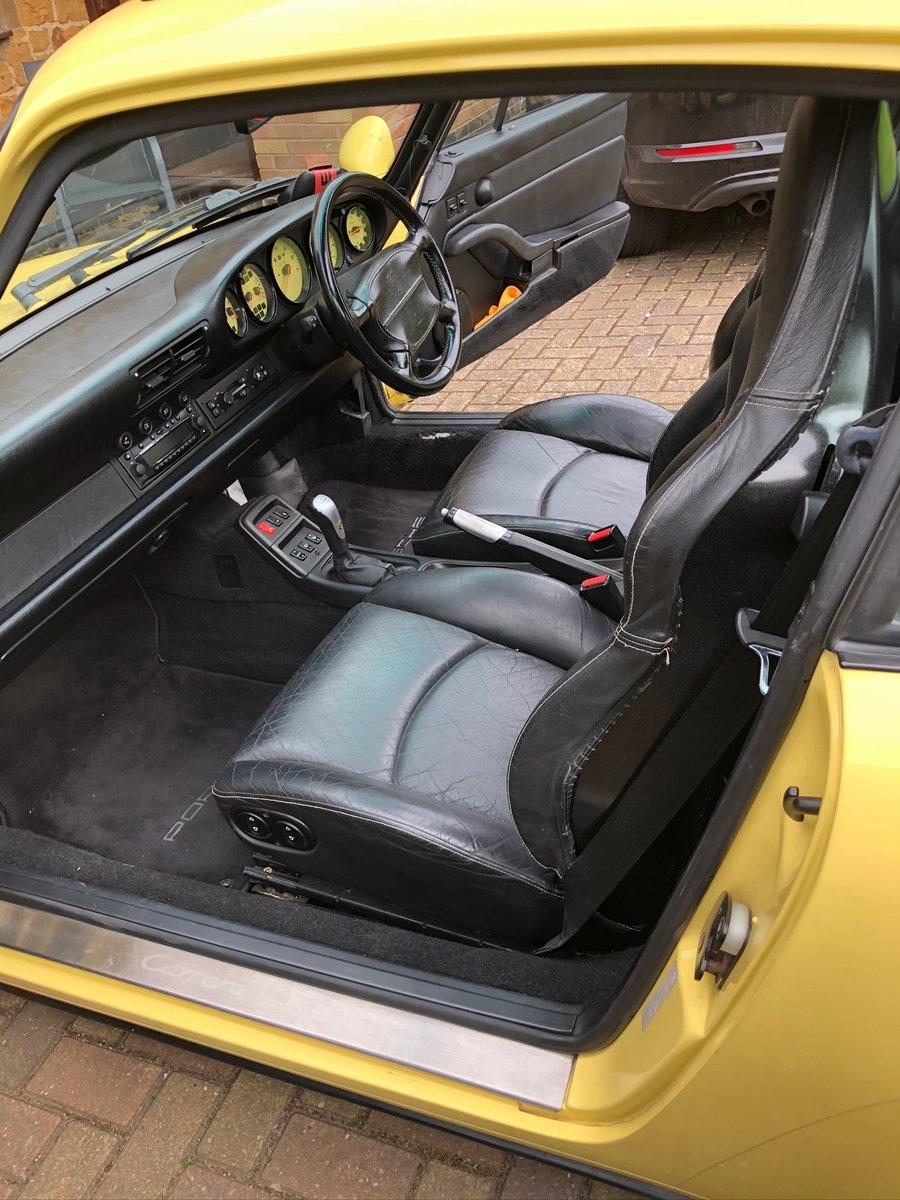 1997 Porsche Carrera 911 Yellow For Sale (picture 2 of 6)