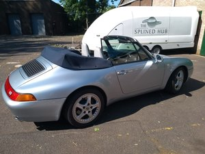 1996 Porsche 993 C2 Cabriolet, Tiptronic, Polar Silver  For Sale