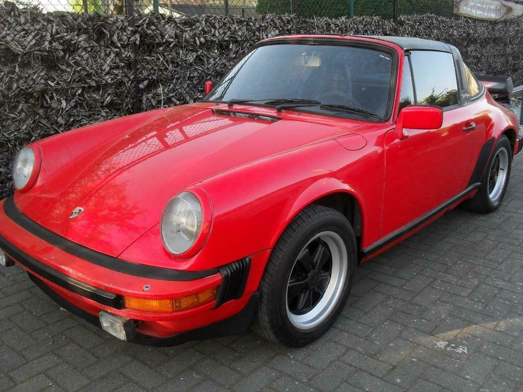 1982 LHD   Porsche 911 sc 3.0 Targa red   /  LEFT HAND DRIVE For Sale (picture 1 of 6)