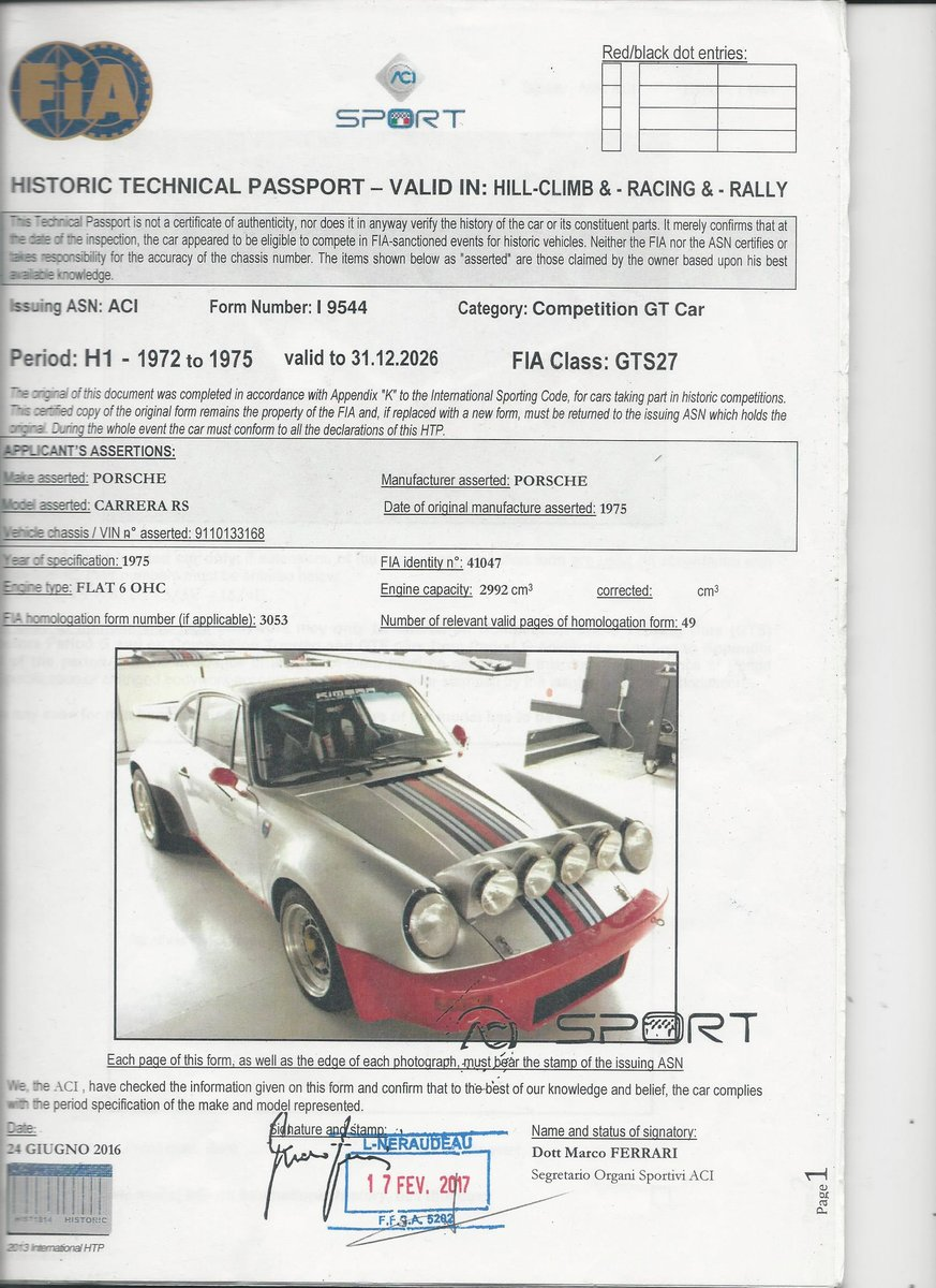 1974 CARRERA RS  ready to race top group 4 For Sale (picture 6 of 6)