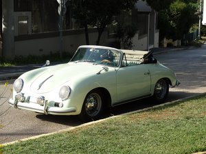 Picture of 1959 Porsche 356 A Super Cabriolet, rare Glacier white For Sale