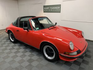 Porsche 911 t targa. Guards red with black