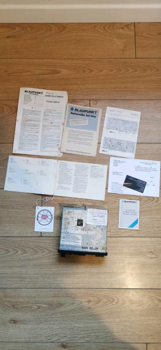 1988 Blaupunkt Toronto Sq 48 head unit For Sale (picture 2 of 6)