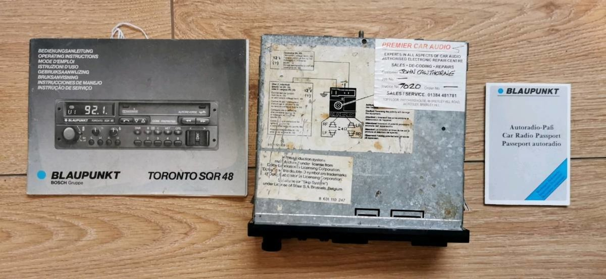 1988 Blaupunkt Toronto Sq 48 head unit For Sale (picture 3 of 6)