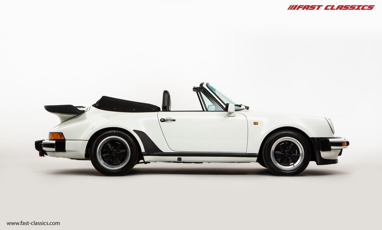 1986 PORSCHE 911 SUPERSPORT CAB // C16 UK RHD // GRAND PRIX WHITE For Sale (picture 1 of 23)