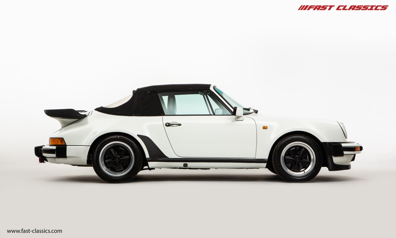 1986 PORSCHE 911 SUPERSPORT CAB // C16 UK RHD // GRAND PRIX WHITE For Sale (picture 8 of 23)