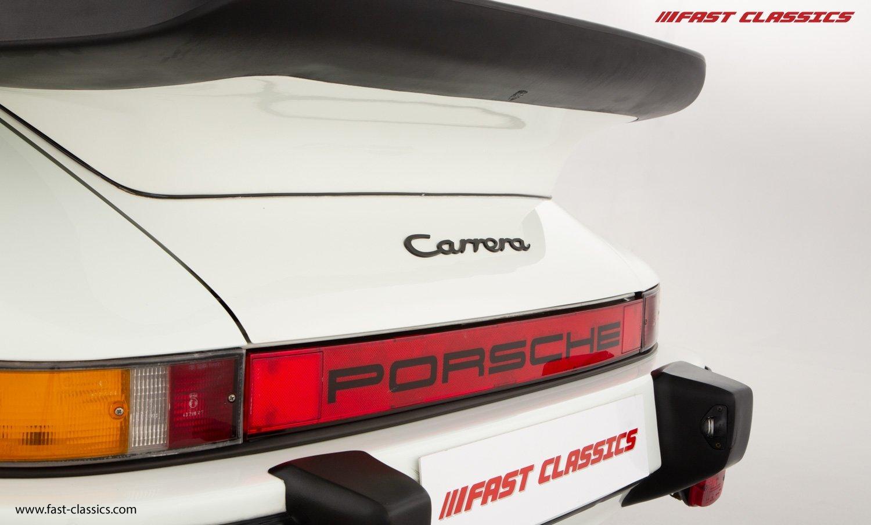 1986 PORSCHE 911 SUPERSPORT CAB // C16 UK RHD // GRAND PRIX WHITE For Sale (picture 13 of 23)