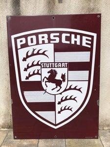 Picture of 1960 Original Enamel Porcelain Porsche Sign