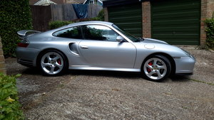 2002 silver porsche 911 turbo (996) manual For Sale