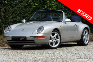 1997 RESERVED - Porsche 993 Carrera 2 Tiptronic S cabriolet For Sale