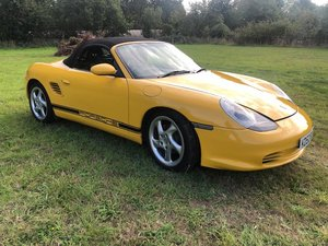 2003  PORSCHE-BOXSTER-986-NOT-987-SPEED-YELLOW-ULTRA-LOW-MILEAGE-