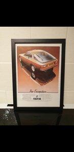Original 1978 Porsche 924 Framed Advert