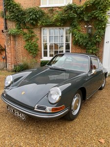 1966 Porsche 912 - Slate grey with red interior. Stunning!