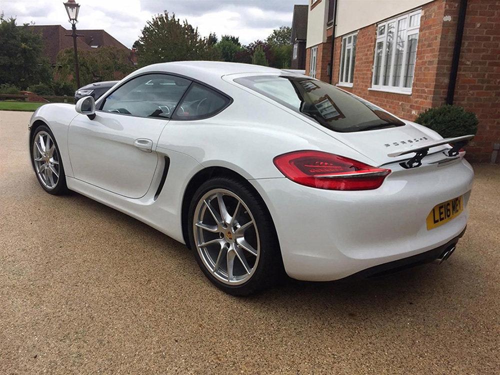 Porsche Cayman, 2016 (981) PDK, White, Semi Auto 4,300 Miles For Sale (picture 2 of 6)