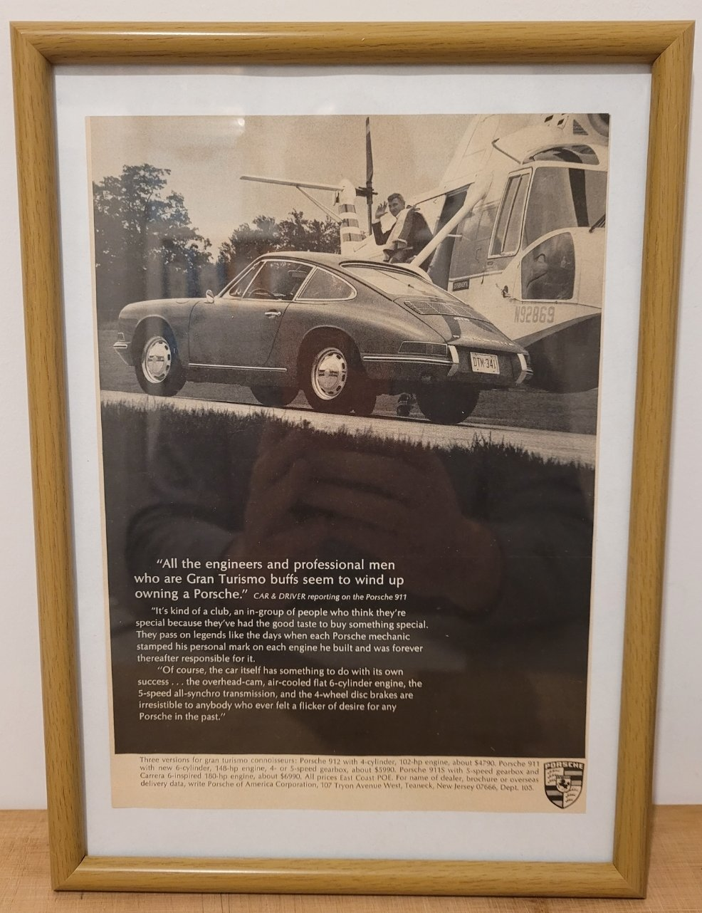 Picture of 1987 Original 1967 Porsche 911 Framed Advert