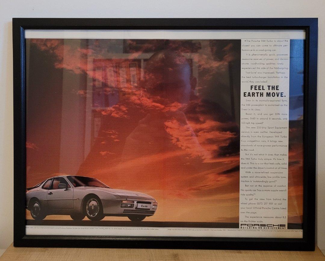 Picture of 1983 Original 1988 Porsche 944 Turbo Framed Advert For Sale