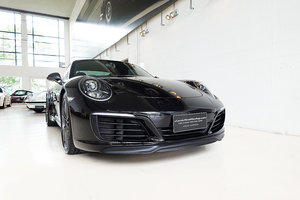 Picture of 2018 Basalt Black 991 Carrera T, Yellow Interior Pack, extras SOLD