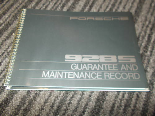 0000 porsche 928 s handbook service book For Sale (picture 2 of 4)