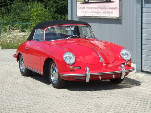 1962 Porsche 356 B 1600 S Cabriolet --- professionally restored For Sale (picture 1 of 6)