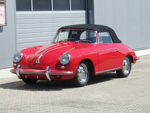 1962 Porsche 356 B 1600 S Cabriolet --- professionally restored For Sale (picture 2 of 6)
