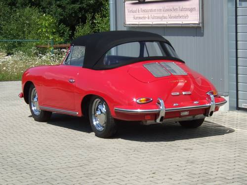1962 Porsche 356 B 1600 S Cabriolet --- professionally restored For Sale (picture 3 of 6)
