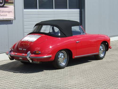 1962 Porsche 356 B 1600 S Cabriolet --- professionally restored For Sale (picture 4 of 6)