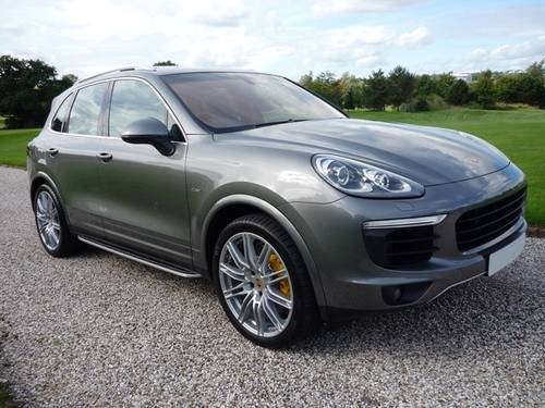 2015 Porsche Cayenne S Diesel - Gry/Blk - 1 Owner (VAT Q) For Sale (picture 1 of 6)