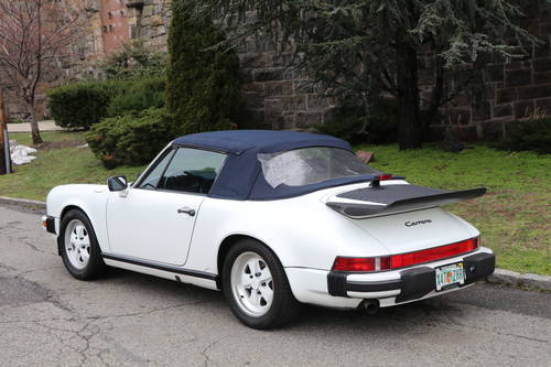 1987 Porsche 911 ​​Carrera cabriolet For Sale (picture 2 of 5)