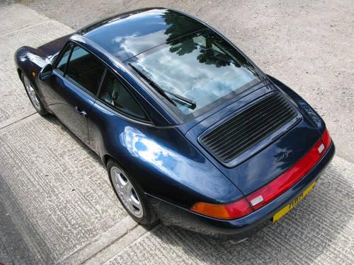 1997 PORSCHE 993 CARRERA C2 TARGA (OCEAN BLUE METALLIC) For Sale (picture 6 of 6)