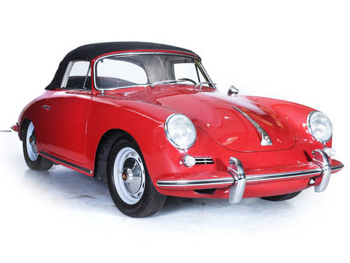 Porsche 356 1962 Cabriolet 1600S Engine LHD Ruby Red For Sale (picture 1 of 6)