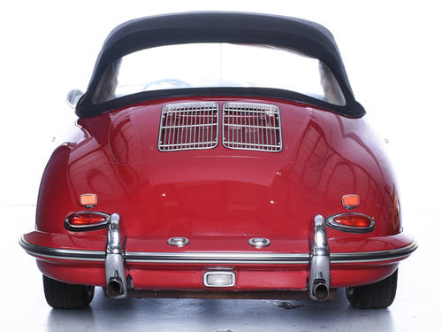 Porsche 356 1962 Cabriolet 1600S Engine LHD Ruby Red For Sale (picture 5 of 6)