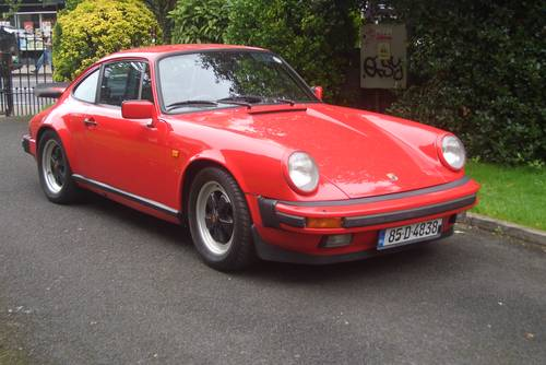 1985 Porsche 911  Carrera 3.2  Guards Red Manal 5 Speed . SOLD (picture 1 of 6)