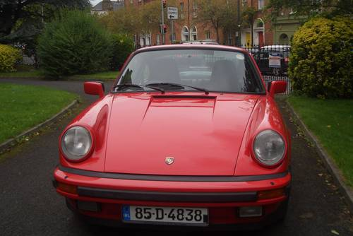 1985 Porsche 911  Carrera 3.2  Guards Red Manal 5 Speed . SOLD (picture 2 of 6)