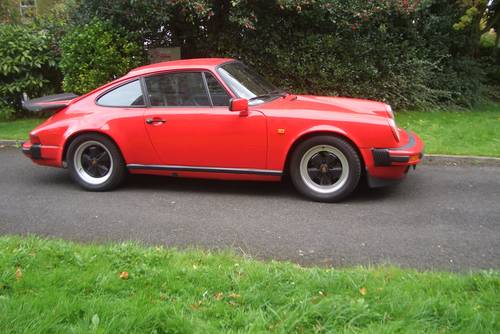 1985 Porsche 911  Carrera 3.2  Guards Red Manal 5 Speed . SOLD (picture 6 of 6)