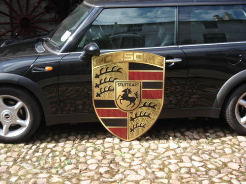 Porsche very large 92cm x70cm garage sign For Sale (picture 1 of 2)