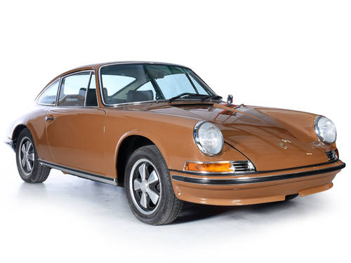 Porsche 911T 1973 Coupe 2.4L Engine LHD Sepia Brown For Sale (picture 1 of 6)