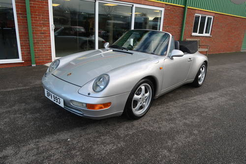 1997 Porsche 911 993 Carrera 2 Cabriolet Manual LOW MILEAGE For Sale (picture 1 of 6)