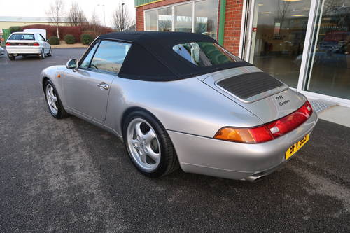 1997 Porsche 911 993 Carrera 2 Cabriolet Manual LOW MILEAGE For Sale (picture 3 of 6)
