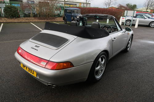 1997 Porsche 911 993 Carrera 2 Cabriolet Manual LOW MILEAGE For Sale (picture 5 of 6)