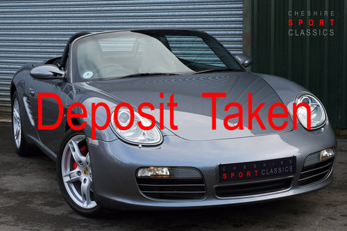 2005 Porsche Boxster 3.2 S manual, 52k, Grey, FSH, OPC Warranty. SOLD (picture 1 of 6)