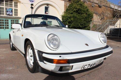 1986 Porsche 911 3.2 Cabriolet 62K miles For Sale (picture 1 of 6)
