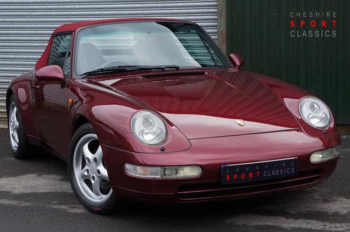 1996 Porsche 911 (993) Carrera 4 Cabriolet - Manual, FSH, Superb. SOLD (picture 1 of 6)